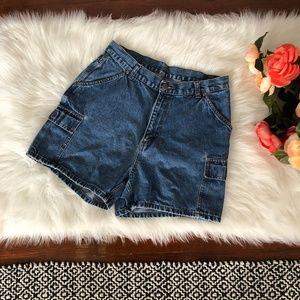 90s Vintage High Waisted Jean Mom Shorts